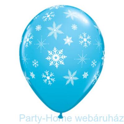 Snowflakes and Sparkles Hópelyhes Robins Egg Blue Lufi