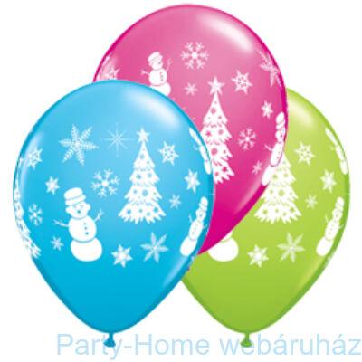 Festive Winter Scene-assorted Karácsonyi Lufi