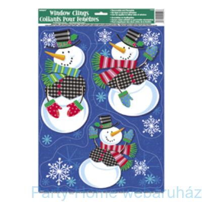 Jolly Snowman Hóemberek Parti Ablakdekoráció Karácsonyra