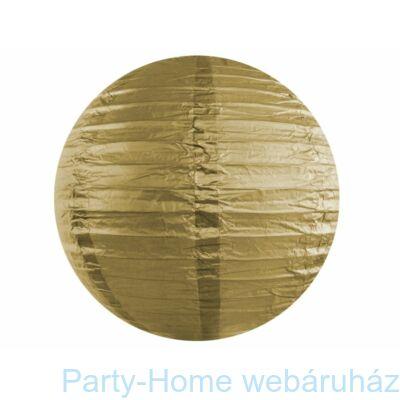 Arany Színű Parti Gömb Lampion - 35 cm