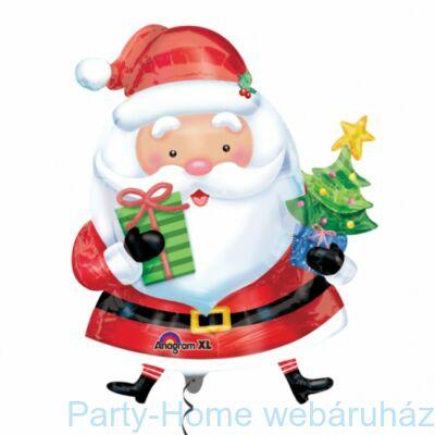 Mikulás Ajándékokkal - Santa with Tree Karácsonyi Super Shape Fólia Lufi