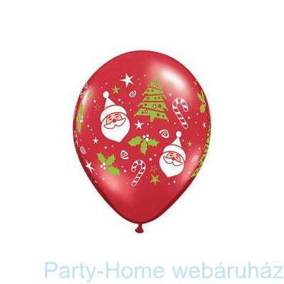 Santa & Christmas Tree Karácsonyi Lufi