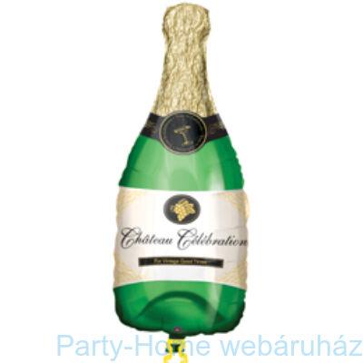Pezsgősüveg Champagne Bottle Mini Shape Pálcás Fólia Lufi