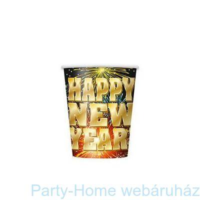 Happy New Year Fireworks Parti Pohár Szilveszterre