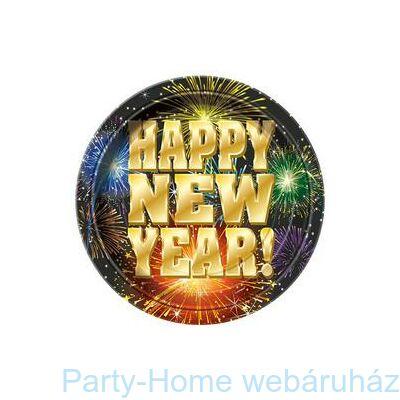 Happy New Year Fireworks Parti Tányér Szilveszterre