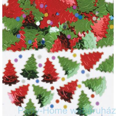 Piros/Zöld Karácsonyfa Konfetti