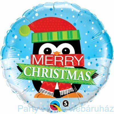 18 inch-es Merry Christmas Penguin - Pingvin Fólia Lufi Karácsonyra