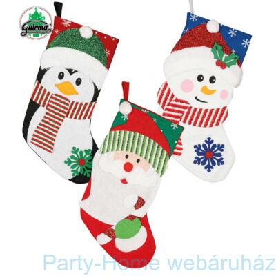 Karácsonyi Ajándék Gyüjtő Zokni, 3 féle