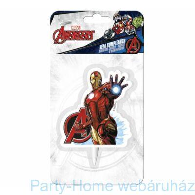 Bosszúállók Vasember- Marvel Avengers Iron Man 2D Gyertya