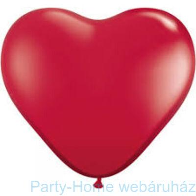 11 inch-es Ruby Red Szív Latex Lufi