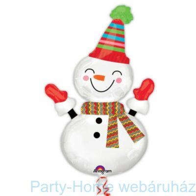 Mosolygó Hóember - Smiley Snowman Karácsonyi Super Shape Fólia