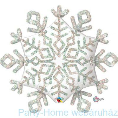 40 inch-es Sparkle Snowflake - Hópehely Alakú Karácsonyi Fólia Lufi
