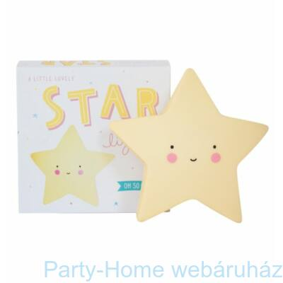 Mini Csillag Lámpa - Sárga