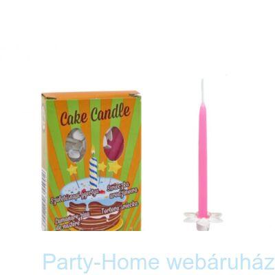 Csomagolt szálas rózsaszinű gyertya