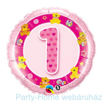 Rózsaszín Macik Age 1 Pink Teddies Szülinapi Számos Fólia Lufi